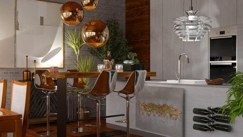 Kitchen with Bar - by ritsa