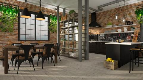Industrial Kitchen - by ariema