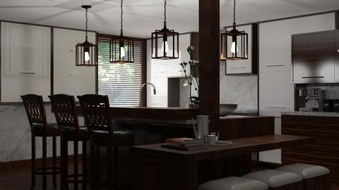 HQ19 Kitchen with Bar - Kitchen - by HarleyQuinn17