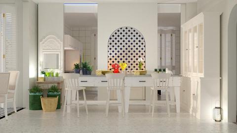 kitchen with bar - by rfstarbuck