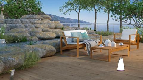 deck and pond - Global - Garden - by anchajaya