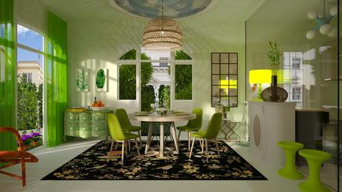 green dining room - by rfstarbuck