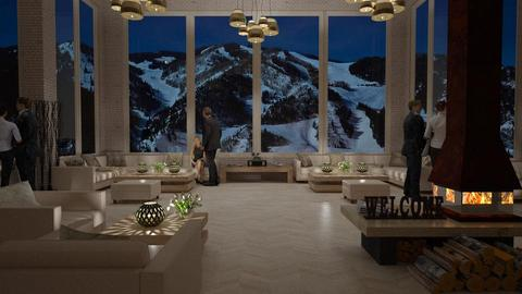 Design 416 Aspen Chalet - Living room - by Daisy320