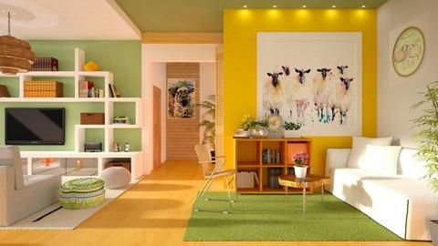 Green fields - Living room - by Inna_Inas