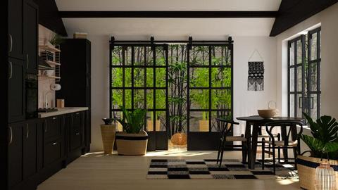 Kitchen bamboo backyard  - by sukica
