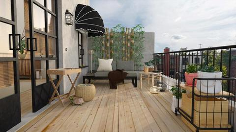 Bamboo Balcony Realistic - by XXXDECORATION