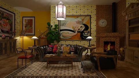 Matisse Inspired - Eclectic - Living room - by janip