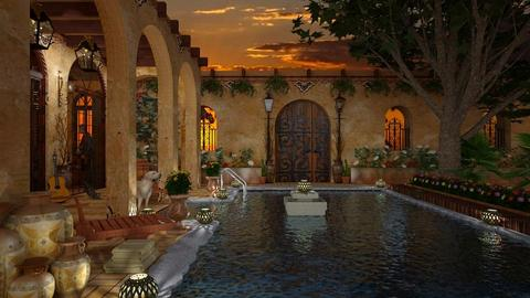 Design 431 Southwest Summer Evening - Garden - by Daisy320