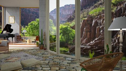 fertile canyon - Rustic - Living room - by russ