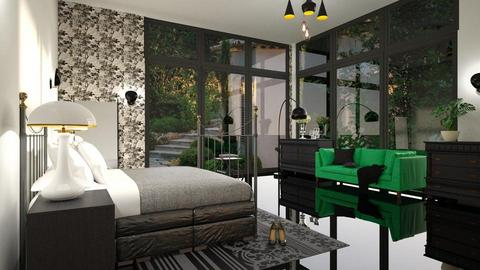 Garden_Bedroom - Bedroom - by ZuzanaDesign