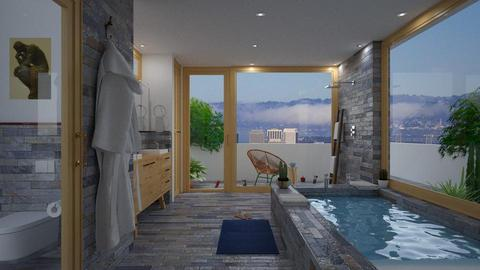 balcony bay bath - Modern - Bathroom - by russ
