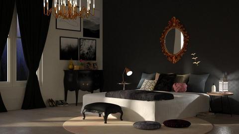 Modern Dark - Classic - Bedroom - by DeborahArmelin