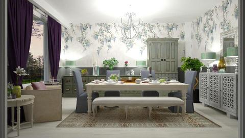 Wisteria - Feminine - Dining room - by janip