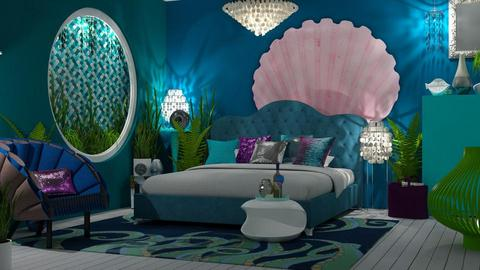 Little Mermaid bedroom - Bedroom - by jagwas