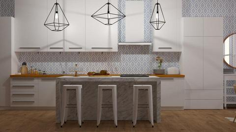 kitchen - Modern - Kitchen - by NEVERQUITDESIGNIT