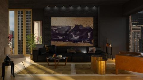 Black and gold - Living room - by Inna_Inas