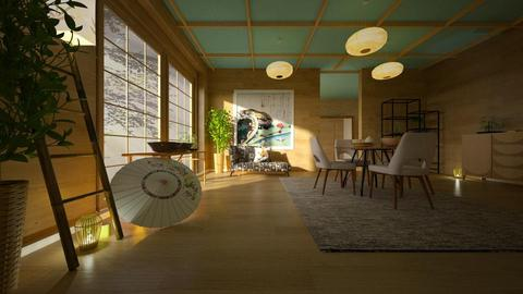 Japan_Art - Living room - by ZuzanaDesign