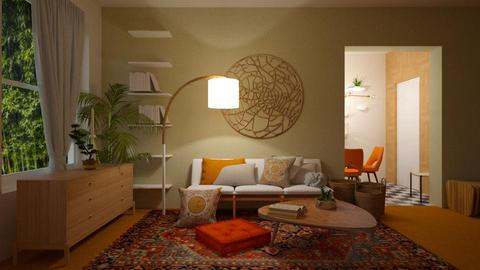 o r a n g e   c a r p e t - Living room - by _xandra_