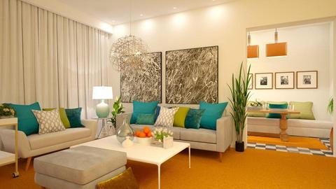Orange Carpet - Living room - by Vlad Silviu