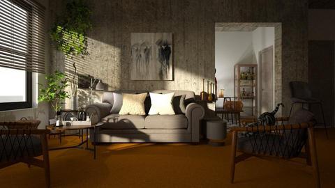 Orange Carpet - Living room - by ZuzanaDesign