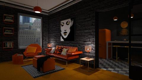 Orange Carpet - Living room - by rasty