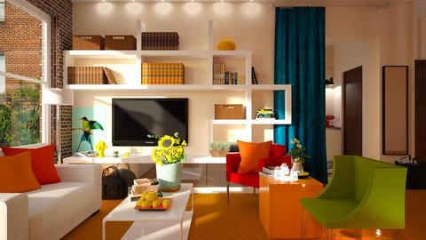 Orange Carpet - Living room - by Inna_Inas
