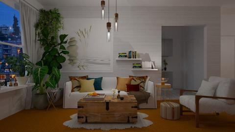 Orange Carpet - Modern - Living room - by janip