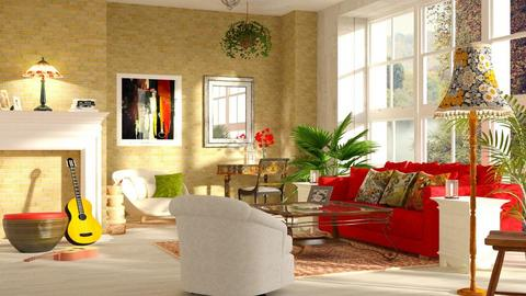 Bohemian_Poppy - Living room - by ZuzanaDesign