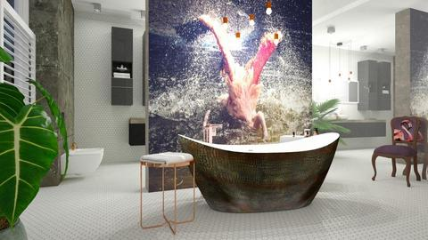 flamingo bathing - Modern - Bathroom - by jagwas