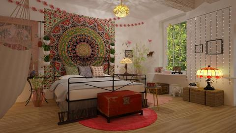Bohemian_Bedroom - Bedroom - by ZuzanaDesign