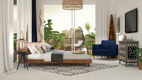 Boho bedroom - Bedroom - by jagwas