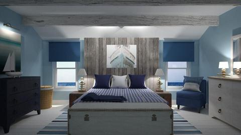 Seaside Bedroom - Bedroom - by CAD Service UK