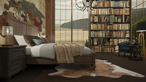 Library Bedroom - Bedroom - by KimAlys