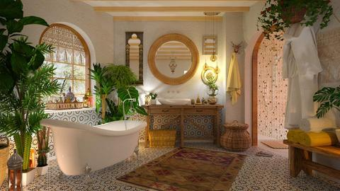 Bohemian Bathroom - Retro - Bathroom - by Valkhan