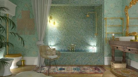 boho bath - by rossella63