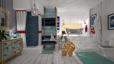 Nautical Bathroom - Modern - Bathroom - by janip