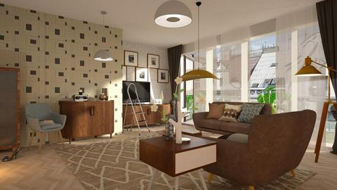 Brown_Vintage - Living room - by ZuzanaDesign