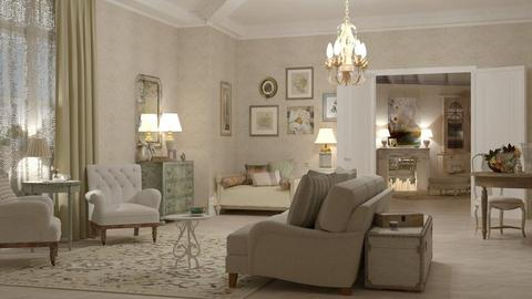 shabby chic - Feminine - Living room - by marinmarin