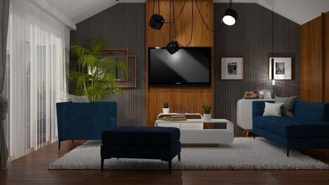mid century - Living room - by anjaam