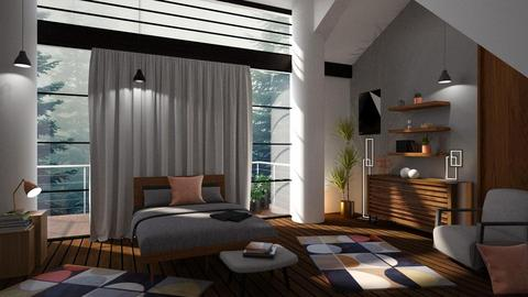 Mid century bedroom - Modern - by sukica