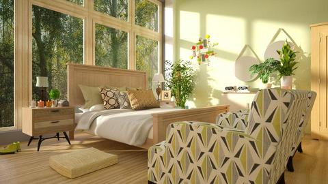 Mid_Century_Bedroom - Bedroom - by ZuzanaDesign