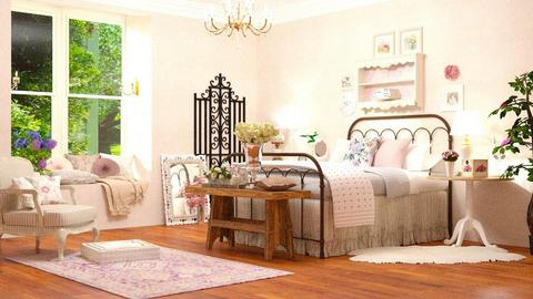 Shabby Bedroom - Feminine - Bedroom - by DeborahArmelin