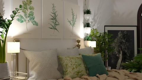 urban bedroom  - Bedroom - by boho_dreamer