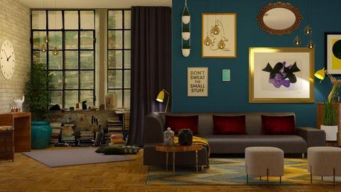 eclectic living room  - Living room - by boho_dreamer