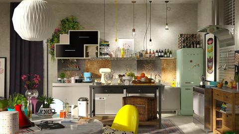 eclectic kitchen - Living room - by bnu