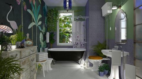 jungle vintage bath - by rossella63