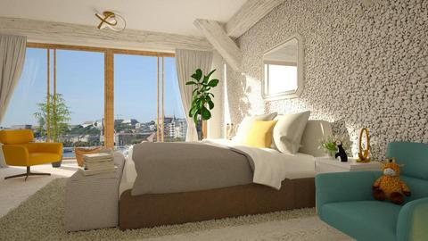 Wall_Pebbles - Bedroom - by ZuzanaDesign