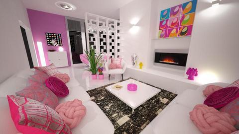 Modern Playful Living - Living room - by nikkisp