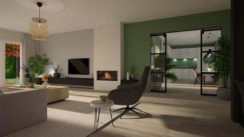 Ontwerp optie2 indeling - Living room - by Gwenda van Maaren