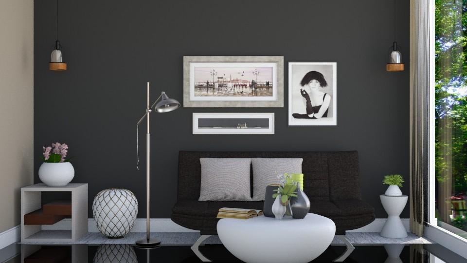 Black - Living room - by ayudewi